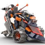 Nexo Knights: Lance´s Tumblr, cyberpunk vehicle, instructions